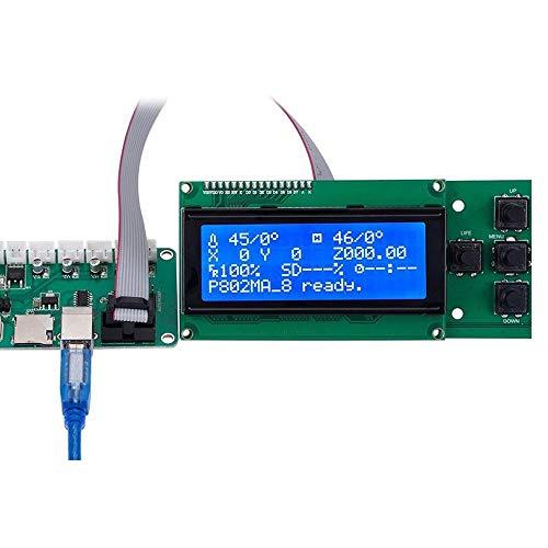 JIAGU Scheda Madre Integrata per Stampante 3D ATMEGA1284P + Display Tastiera 2004 LCD 2.0 1284P PCB Board IC for Stampante Tronxy 3D della Scheda Madre (Color : Green, Size : One Size)