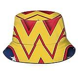 Sombrero de Cubo Wonder-Woman Sombreros de Pescador Sombreros de Cubo de Doble Cara Impresos...