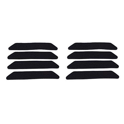Fengyuanhong 8pcs Trapezoid Anti-Rutsch-PU Teppich Gripper Ecken und Kanten Nicht Beleg Rug Pads für Küche Badezimmer