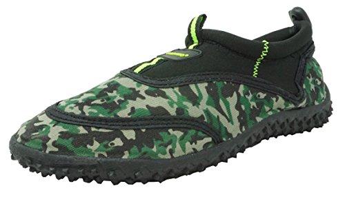 Fresko Kids Camo Water Shoes for Boys, B1337, Black, 1 M US Little Kid