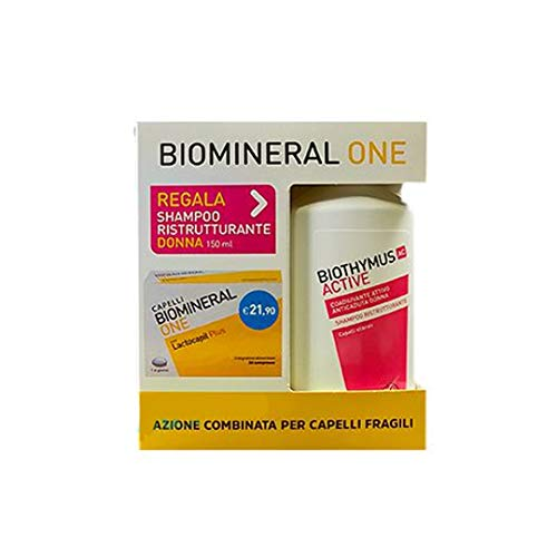 Biomineral One Hair Lactocapil Plus 30 Tablets + Biothymus Active Restoration Shampoo Women