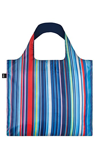 LOQI Artist Nautical Stripes Bag Strandtasche, 50 cm, 20 liters, Mehrfarbig (Multicolour)