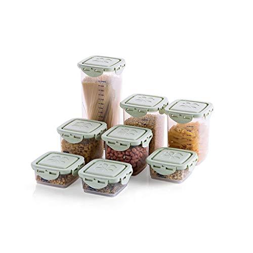 Botes especias Conjunto de contenedores de almacenamiento de alimentos Latas selladas duraderas Recipiente de almacenamiento de granos for alimentos secos y almacenamiento de líquidos (juego de 8) Tar