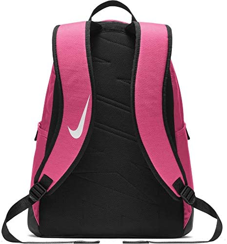 Nike Brasilia Training Backpack, Extra Large Backpack Built for Secure Storage with a Durable Design, Rush Pink/Black/White