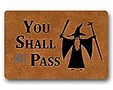 You Shall Not Pass - Felpudo decorativo para interiores y...
