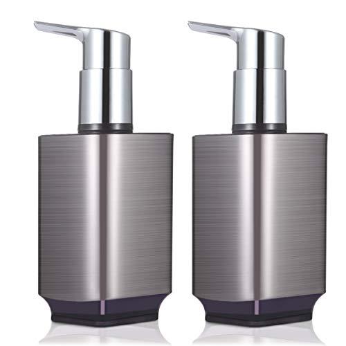 Boperzi - Dispensador de jabón líquido recargable a prueba de óxido, dispensador de jabón líquido para manos y platos a prueba de fugas, bomba de plástico para cocina y baño, 10 onzas