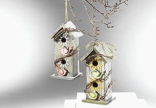 Décoration de maison d'oiseau en bois
