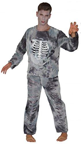 Unbekannt Zombie Kostüme Halloween Skelett Pirat Herren, Größe:M;Modell:Zombie Skelett