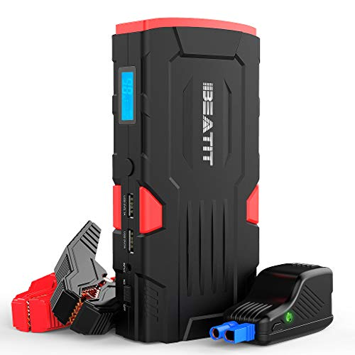 Beatit D11 800Amps QDSP 18000mAh Peak 12V Car Jump Starter (Up to 7.5L Gas and 5.5L Diesel) Portable Power Bank Auto Battery Booster with Intelligent Jumper Cables