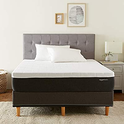 Amazon Basics Cooling Gel Infused Latex-Feel Mattress - Firm Support - CertiPUR-US Certified - 12 inch, Queen
