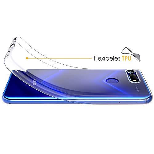 Beetop Huawei Honor View 20 Hülle Schutzhülle Ultradünn Handyhülle Transparent Weiche Silikon TPU Rückschale Case Cover für Huawei Honor View 20 - Durchsichtig - 3