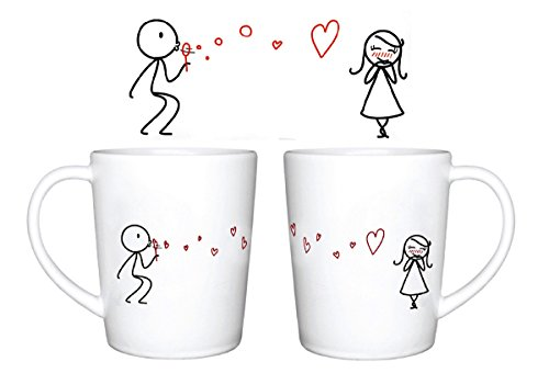 Human Touch - Burbujas de Amor Tazas - Juego de 2 Tazas