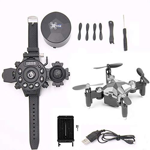 Mini Watch WiFi 8.0MP HD Kamera Drone Traveler Anfänger Drohne mit optischem Anti-Shake Quadcopter EIN-Schlüssel-Start/Landung/Stop Hubschrauber Geburtstag Kinder und Erwach