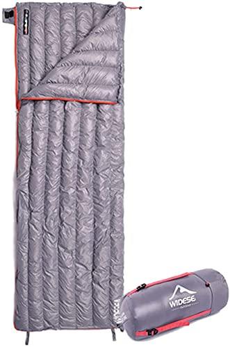 LXNQG Camping Bolso de Dormir Ultraligero Abajo Bolsa Impermeable Impermeable Portátil Almacenamiento COMPRESIÓN Bolsa de sueño para Acampar, Senderismo (Color : Grey, Size : 300G)
