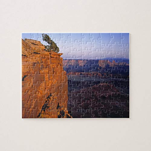 Scott397House Jigsaw Puzzles 500 Piece for Adults Kids Ages 8-10 Pieces PuzzleUsa, Utah, Dead Horse Point Sp. Late Light Turns Fun Game Toys Birthday Gifts Fit Together Perfectly