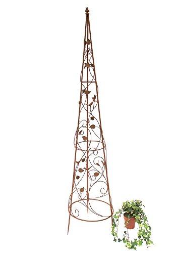 DanDiBo Rankhilfe Pyramide 082547 aus Metall XL-164 cm Kletterhilfe Rankgerüst Ranke