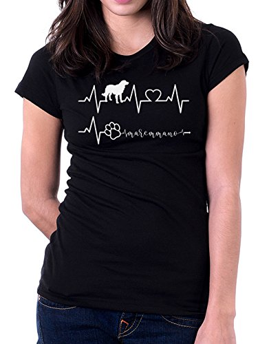 Tshirt Elettrocardiogramma Maremmano - I Love Maremmano - Cani - Dog - Love - Humor - Tshirt Simpatiche e Divertenti