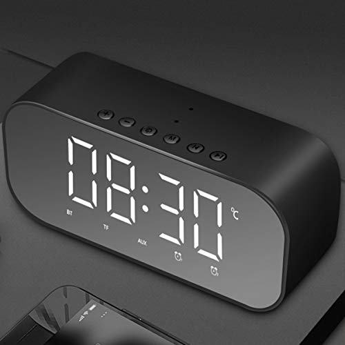 SYC Digitale nachttimer met FM LED Creative Desktop wekker met draadloze Bluetooth subwoofer