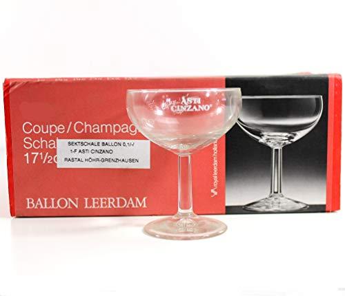 ASTI Cinzano Sekt-Schale 6er Set Ballon-Glas geeicht ~mn 1042 1022