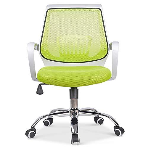 Bequemer Computerstuhl Der Mesh-Gepolsterter Sitz drehen können 360  Grad und die maximale Tragfähigkeit ist 130 kg Home Office Chair Ausgezeichnete Textur (Farbe : Grün)