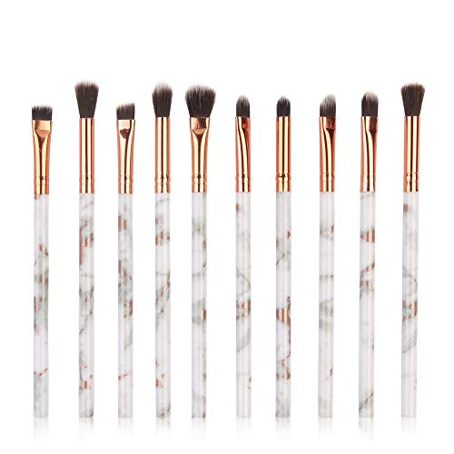 CIELLTE 10PCs Pinceau de Maquillage Multifonctionnel Marbre Impression Maquillage Kit Set de Brosse Makeup Brushes Cosmétique
