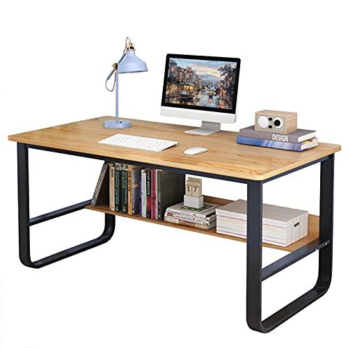 Escritorio de computadora con estantería 39,4 pulgadas Mesa de escritorio pequeña para la oficina en casa Escritorio del ordenador portátil de la PC Escritorio para juegos de estudio de escritura