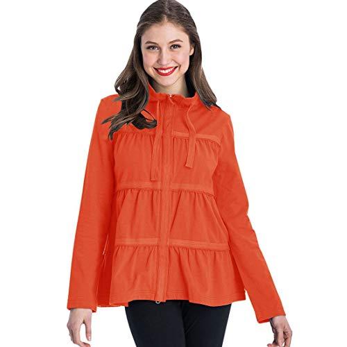 Neon Buddha Sassy Ruffle Jacket (Orange, M)