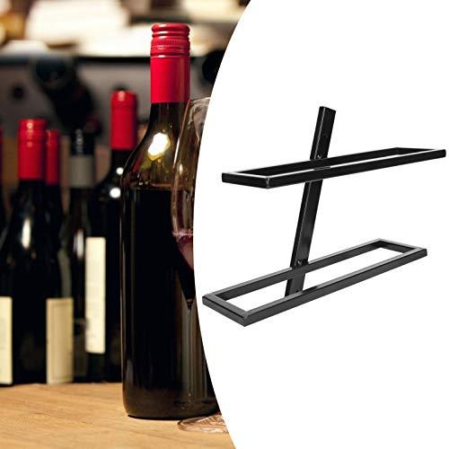 Emoshayoga Estante de Almacenamiento Estante de Vino montado en la Pared Soporte de Botella de Vino Moderno y Resistente Bodega para Cocina Comedor(Inclined Wine Rack for 2 Bottles Black)