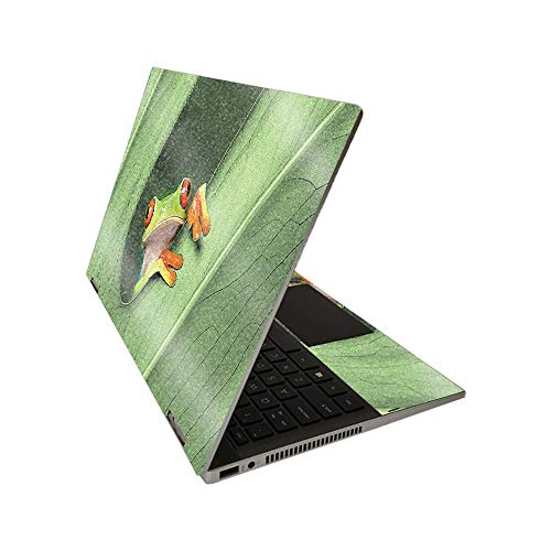 MightySkins Glossy Glitter Skin for HP Pavilion x360 14' (2020) - Froggy | Protective, Durable High-Gloss Glitter Finish | Easy to Apply, Remove, and Change Styles | Made in The USA