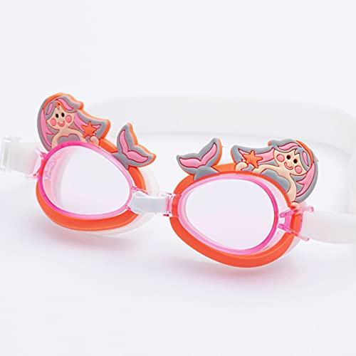 JSJJAUJ Gafas de natación Gafas para niños HD Transparente Niño Buceo Gafas Linda Dibujos Animados Cómodo Personalidad Luz de Sunglass Accesorios de Natación (Color : Type4, Eyewear Size : Other)