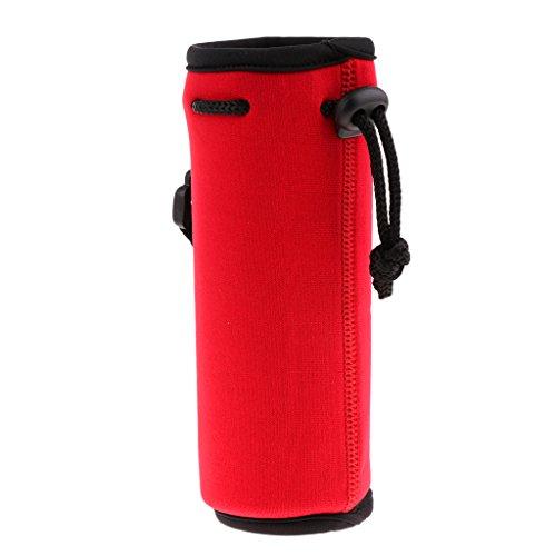 Sharplace Poche Néoprène Isolé Sport Bouteille d'eau Couverture Pochette Sac Bidon Accessoire Réservoir d'eau - Rouge, 500 ML