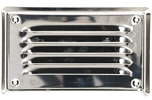 KOTARBAU® Lüftungsgitter 165x100 mm Edelstahl Abluftgitter für Kamin Belüftung Silber mit Insektschutzgitter beständig gegen Korrosion
