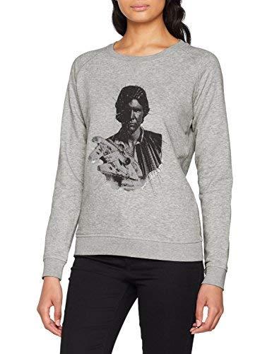 Alvarno Sweater Han Solo Explosion Sudadera, Gris (Gris 0), Large (Tamaño del Fabricante:L) para Mujer