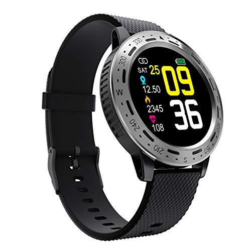 Wsaman Reloj Fitness Inteligente Fitness Tracker Deportivo Tracker Smartwatch Pulsera Actividad con Pulsómetro Cardíaco y Sueño, con Pantalla Táctil para Android/iOS/Mujer/Hombre,Black Silver