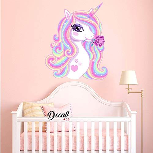 Hermoso arco iris unicornio con estrellas, pegatinas de pared para habitación de los niños, niños, niñas, habitaciones, Pony, reutilizables, adhesivos de pared extraíbles