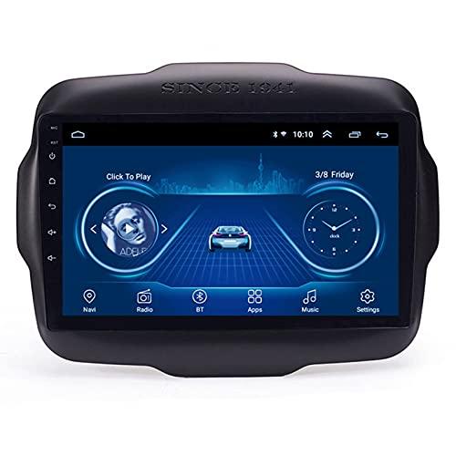 Android 10.0 8 Core Car stereo radio de navegación por satélite FM AM Autoradio 2.5D Pantalla táctil para Jeep RENEGADE 2016-2018 Navegador GPS Bluetooth WIFI GPS USB SD player(Color:WIFI 2G+32G)