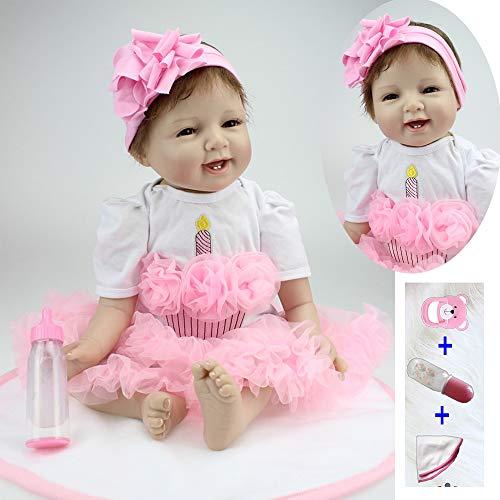 Realistas Reborn Baby Dolls 22 pulgadas / 55 cm Real Suave Silicona Realista Recién Nacido Real Mirando Muñecas Reborn Hecho A Mano Boy Girl Toys