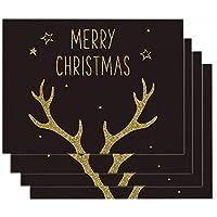 4PCSクリスマスプレースマット、クリスマステーブルプレースマットセット、洗える耐熱プレースマット,C