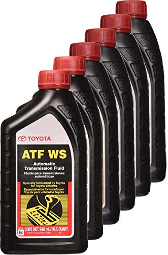 Toyota 00289-ATFWS Automatic Transmission Fluid, 192 Ounces, 6 Pack