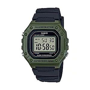 [カシオ]STANDARD DIGITAL カシオ スタンダード デジタル W-218H-3A 腕時計 メンズ レディース チープカシオ チプカシ プチプラ カーキ ブラック 黒 [並行輸入品]