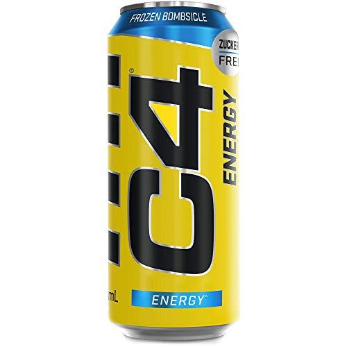 C4 Energy Drink - zuckerfreies, koffeinhaltiges Erfrischungsgetränk für den Energy Kick (12x 500ml) | Frozen Bombsicle