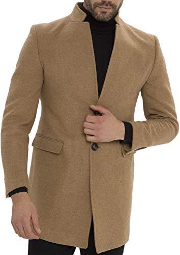 CARISMA Classic Herren Mantel Stehkragen Business Outfit Wollmantel Mix