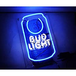 Queen Sense 14 Bud Light CanNeon Sign Light Acrylic Handmade Man Cave Beer Pub Bar Wall Decor Lamp WB330