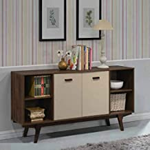 Maison Concept Retronic Cabinet, Brown and Grey - H 830 x W 400 x D 1600 mm