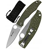 Ganzo G7321-GR Folding Pocket Knife 440C Stainless Steel Blade G10 Handle with Clip Camping Fishing Hunting Outdoor EDC Knife (Green) with Gift - Multi-Tool Card 8-in-1