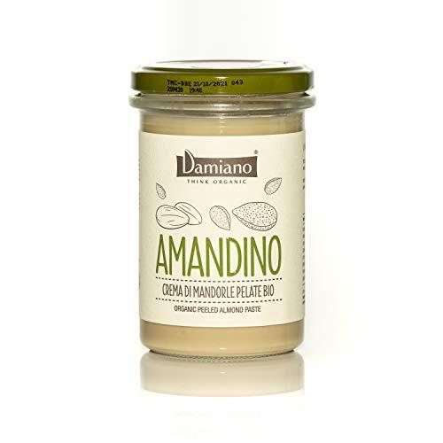 Damiano THINK ORGANIC Crema Spalmabile di Mandorle Pelate, 100% Biologiche, Senza Glutine - 275g