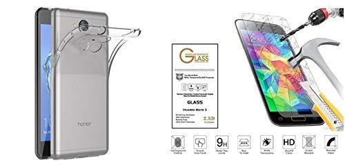 compatibile PER Huawei NOVA SMART DIG-L21 / Honor 6C DIG-L01 DIG-L21HN Custodia COVER case GEL protezione SILICONE trasparente MORBIDA TPU + PELLICOLA VETRO temperato ANTIURTO 9H