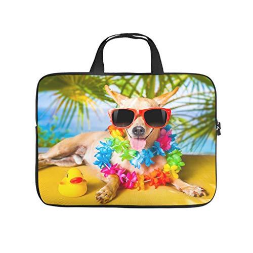 Dog Holiday Laptop Bag Scratch Resistant Laptop Carry Bag Pattern Notebook Bag for University Work Business