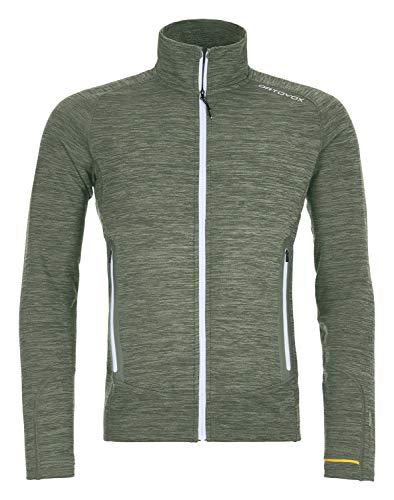 ORTOVOX Fleece Light Melange Jacket Homme, Green Forrest Blend, L