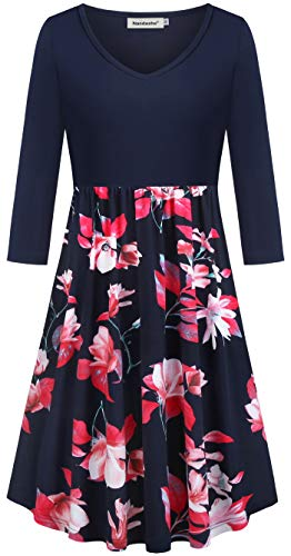 Black Dresses for Women,Nandashe New Boutique Simple and Plain Designer Indian Lotus Pattern Solid Color Tops Splicing Backless Nightclub Going Out Notation Hi Low Slip Chiffon Floral Dress Navy Red L